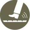 Tlmenie kročajového efektu, Tlmenie podlahy, Kročajový hluk, Hluk parkety